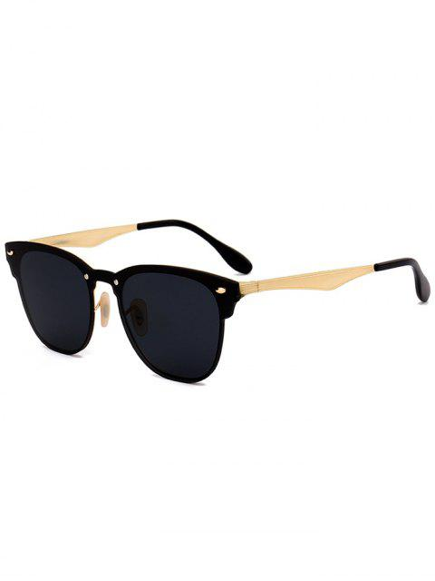lady Metallic Mirror Wayfarer Sunglasses - BLACK  Mobile