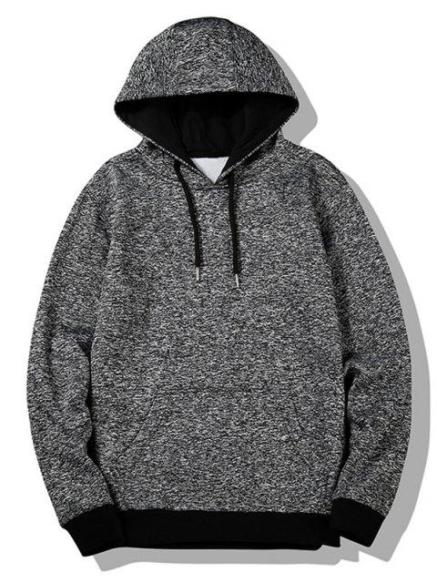 affordable Flocking Heathered Hoodie - GRAY 2XL Mobile