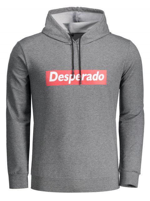 lady Desperado Graphic Hoodie - DEEP GRAY XL Mobile
