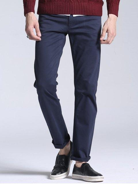 Slim Fit Stretch Casual Pants - Bleu Foncé 38 Mobile