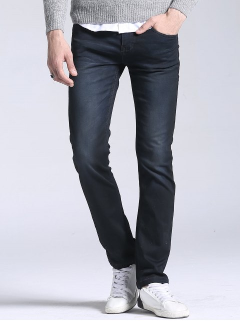 sale Regular Fit Straight Leg Jeans - BLACK 36 Mobile