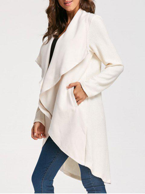 buy High Low Drape Coat - APRICOT L Mobile