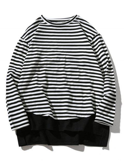 outfits Striped Oversize Sweatshirt - STRIPE XL Mobile