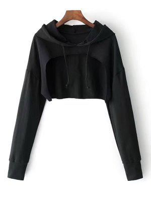 Cape Drop Shoulder Crop Hoodie