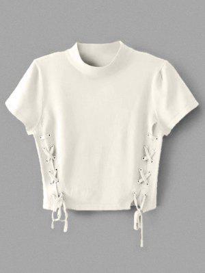 Tige à encolure en tricot à col ras du cou
