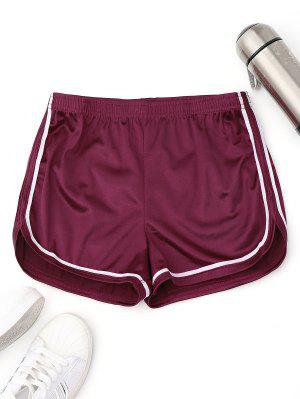 Elastic Waist Satin Sports Dolphin Shorts
