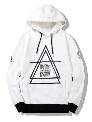 Flocking Graphic Hoodie Men Clothes