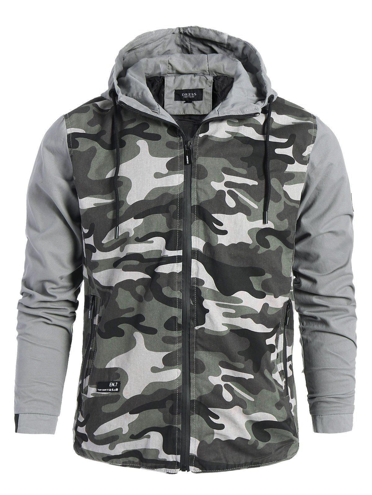 Mens Hooded Camo Jacket 225706506
