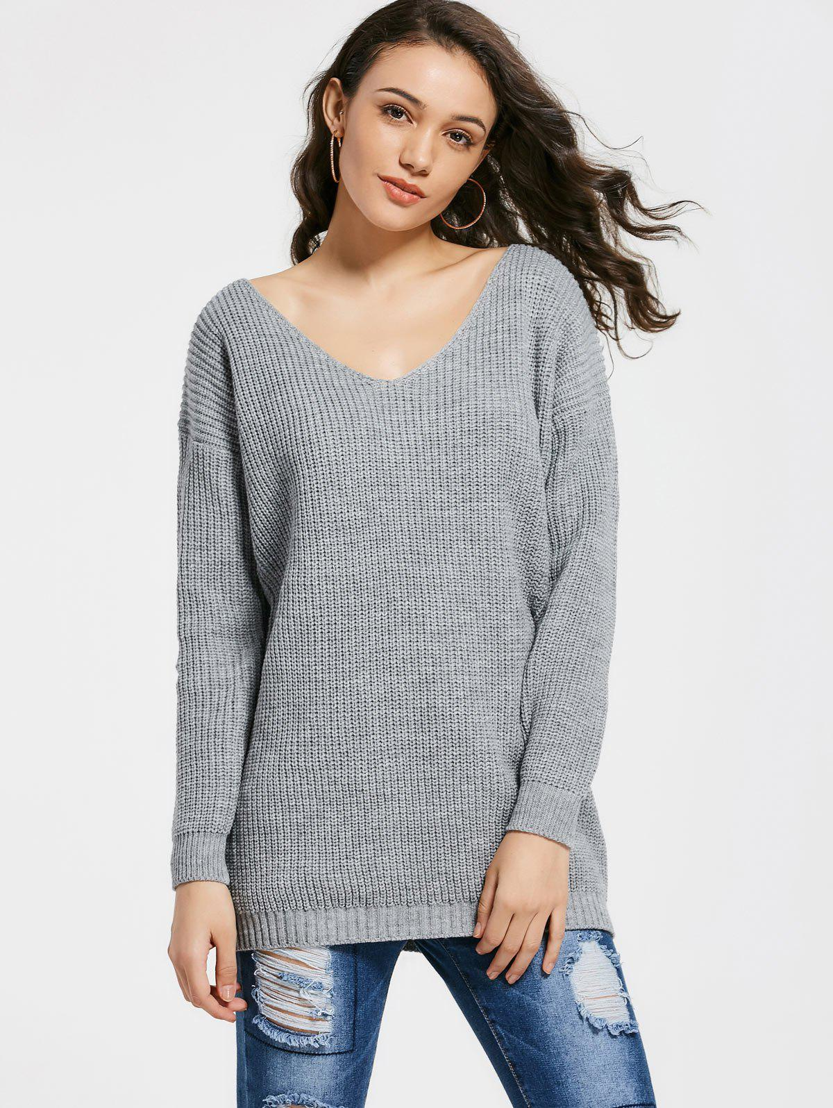 Chunky V Neck Sweater