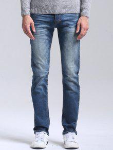 جينز مستقيم  - أزرق 34