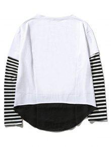 Cuello Blanco Del Camiseta Raya 2xl Del Panel De La Equipo De YFwwOaq