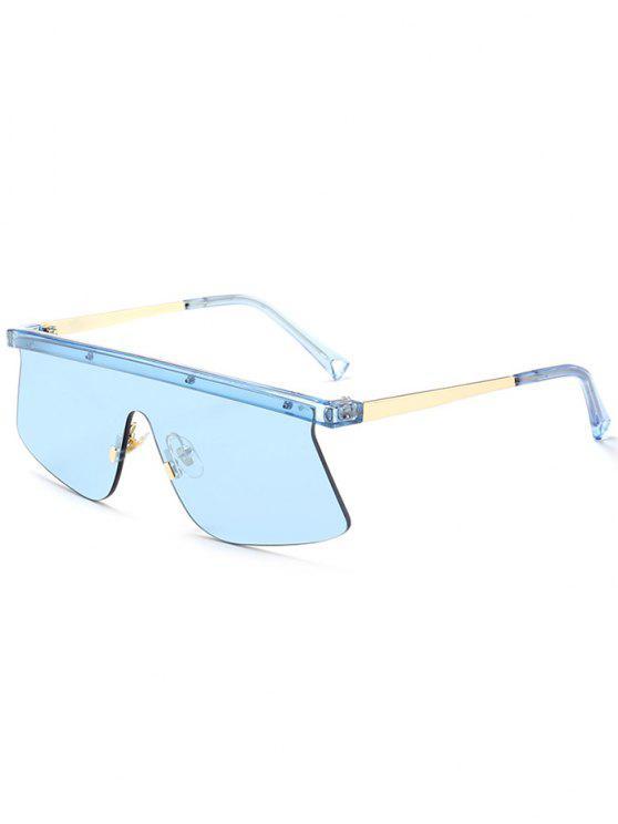 Gafas de sol semirrígidas del espejo del escudo - Azul Claro