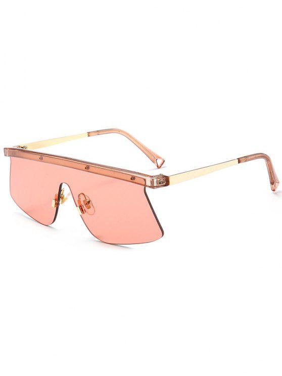 Semi Rimless Shield Mirror Sunglasses - Vermelho Claro