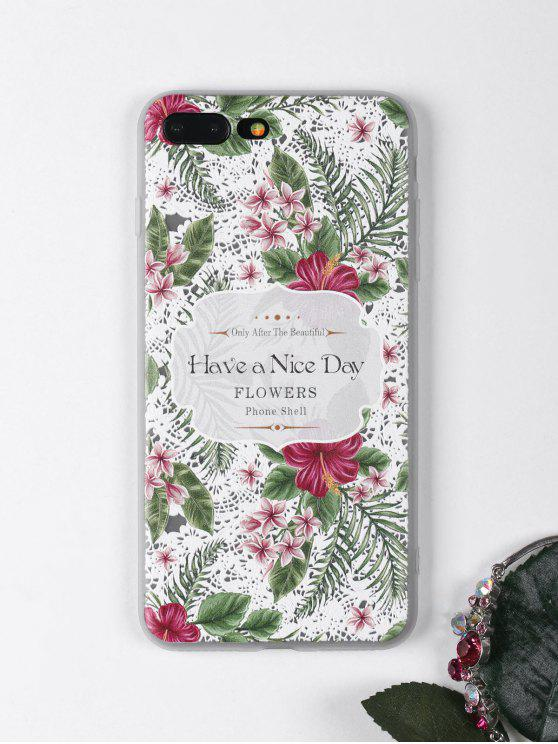 shops Tropical Leaf Flowers Pattern Phone Case For Iphone - WHITE FOR IPHONE 7 PLUS