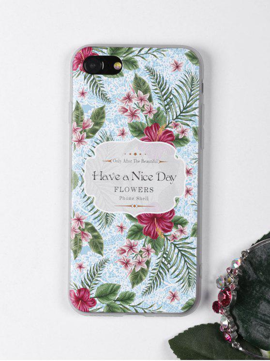 Étui de téléphone à motif de fleurs tropicales pour iPhone - Bleu clair POUR IPHONE 7