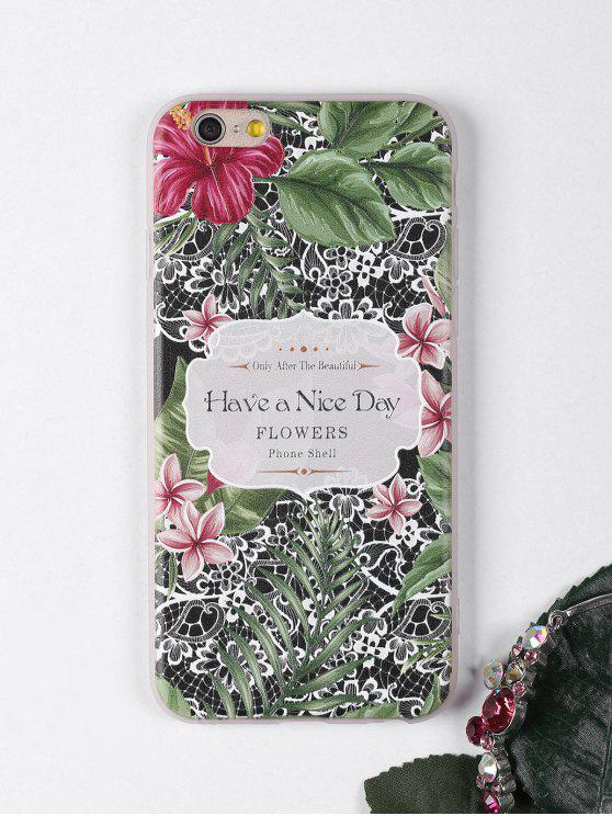 chic Tropical Flowers Pattern Phone Case For Iphone - BLACK FOR IPHONE 6 / 6S