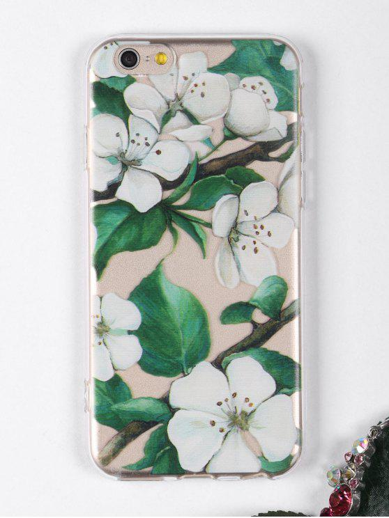 affordable Flowers Branch Pattern Phone Case For Iphone - WHITE FOR IPHONE 6 / 6S