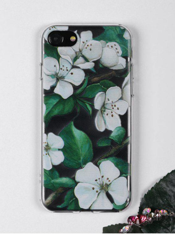 womens Flowers Branch Pattern Phone Case For Iphone - WHITE FOR IPHONE 7