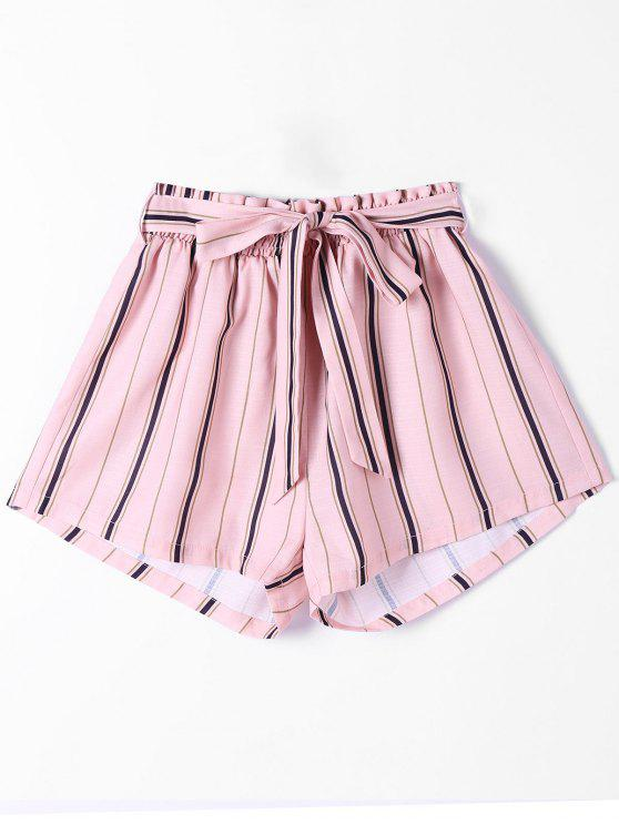 Pantalones largos rayados - Rosa M