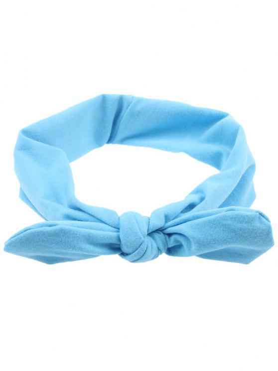 Multifunktions Elastisches Haarband mit Schleifedetail - Hellblau
