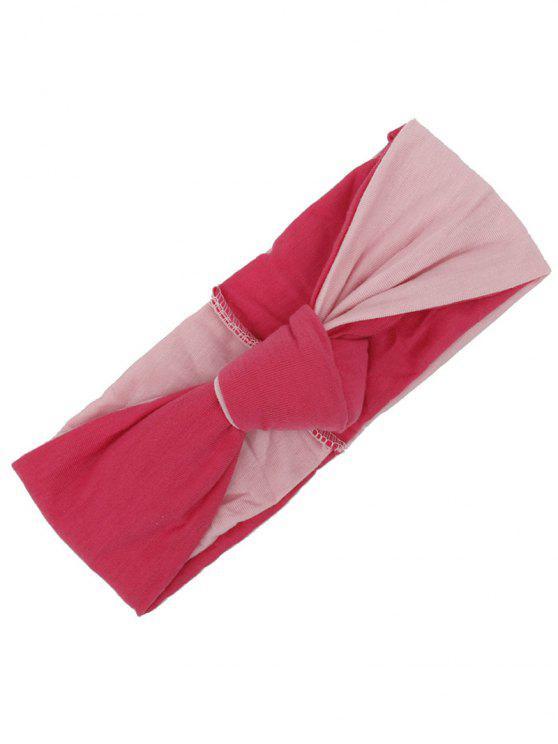 Faixa de cabelo elástico multiusos de dois tons - Rosa