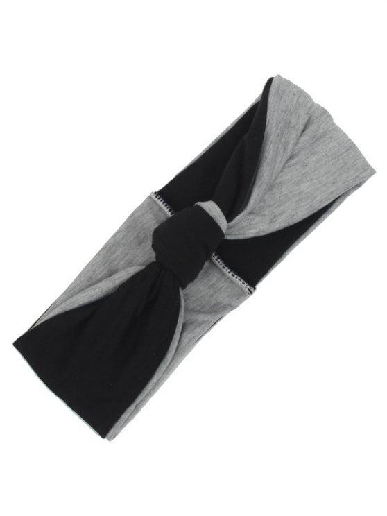 Zwei Tone Multiuse Elastisches Haarband - Schwarz
