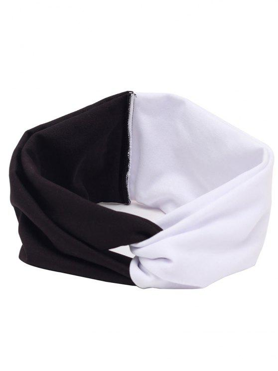 women Elastic Multiuse Hair Band - WHITE AND BLACK
