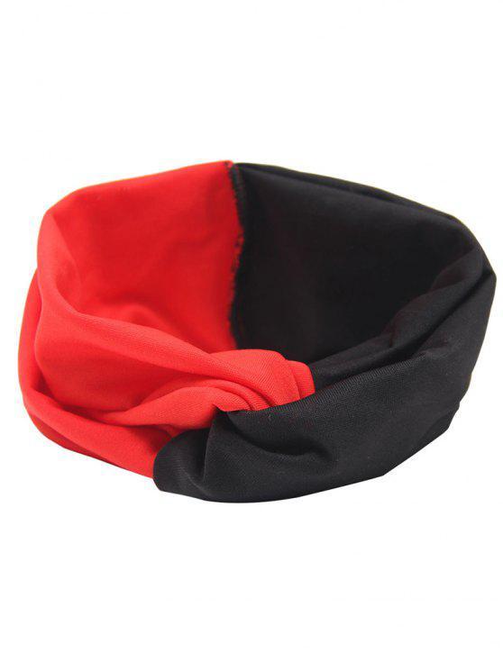 Cinta elástica de pelo multiuso - Negro y Rojo