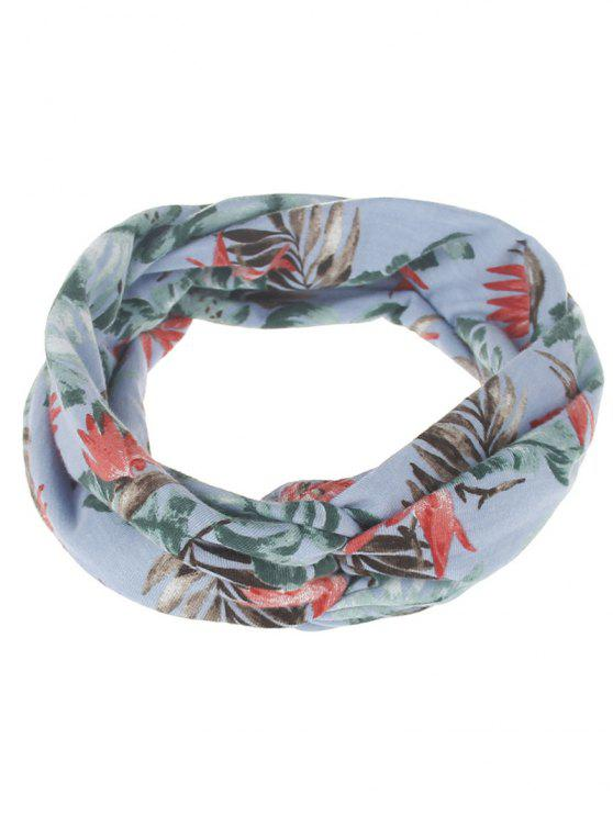 outfit Multiuse Leaf Printed Elastic Hair Band - #01