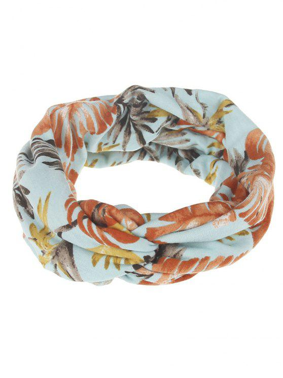 outfits Multiuse Leaf Printed Elastic Hair Band - #02