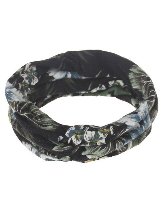 shops Multiuse Leaf Printed Elastic Hair Band - #04
