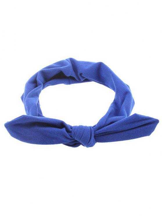 Bague à cheveux élastique Multiples Bows - Bleu