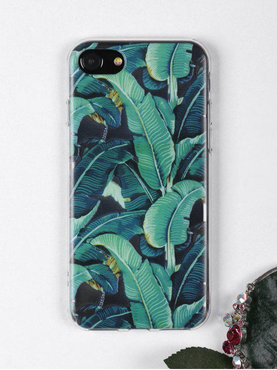 best Tropical Leaves Pattern Phone Case For Iphone - GREEN FOR IPHONE 7