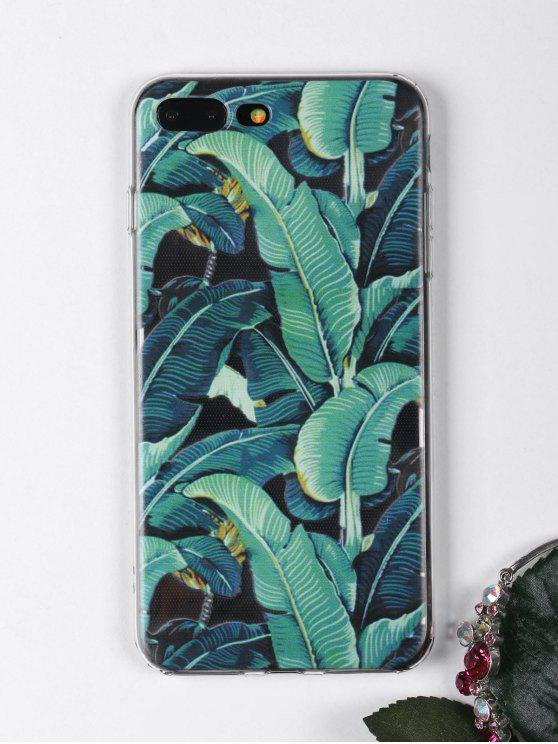 online Tropical Leaves Pattern Phone Case For Iphone - GREEN FOR IPHONE 7 PLUS
