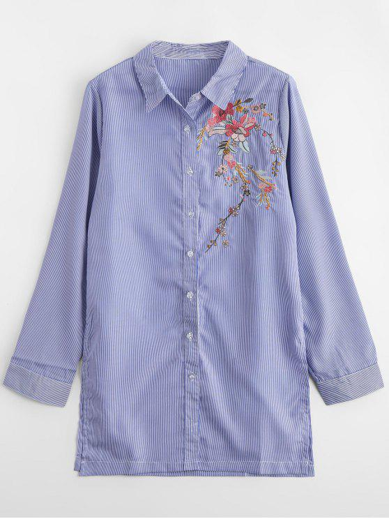 Camisa bordada bordada floral bordada - Listras L