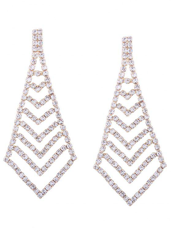 Rhinestone Geometric Party Sparkly Earrings - Or