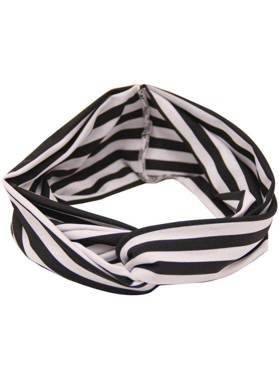unique Two Tone Multiuse Striped Elastic Hair Band - STRIPE