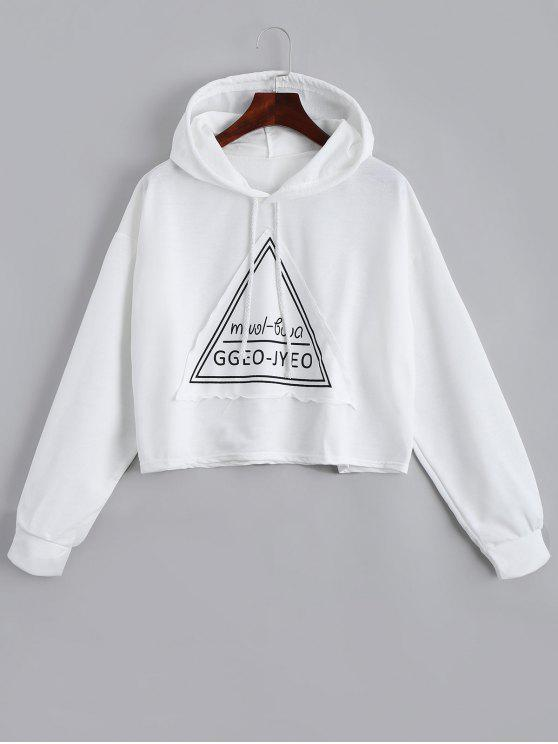 latest Letter Drawstring Hoodie - WHITE ONE SIZE