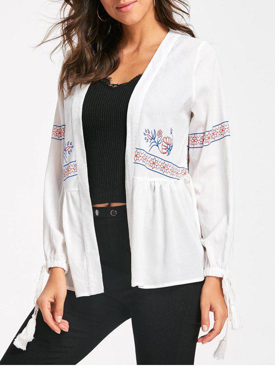 Kimono floral minuscule - Blanc M
