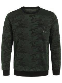 Pullover Camo Crew Neck Sweatshirt - Acu Camouflage 3xl