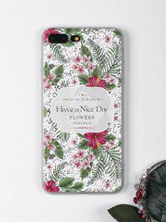 Tropical Leaf Flowers Pattern Phone Case For Iphone - White For Iphone 7 Plus