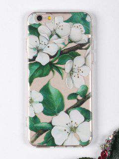 Étui De Téléphone à Motifs De Branches De Fleurs Pour Iphone - Blanc Pour Iphone 6 / 6s