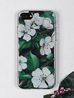 Flowers Branch Pattern Phone Case For Iphone - White For Iphone 7