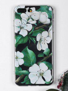 Flowers Branch Pattern Phone Case For Iphone - White For Iphone 7 Plus