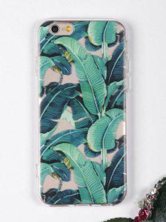 Tropical Leaves Pattern Phone Case For Iphone - Green For Iphone 6 / 6s