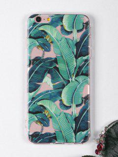 Tropical Leaves Pattern Phone Case For Iphone - Green For Iphone 6 Plus / 6s Plus