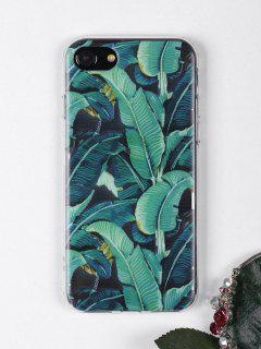 Tropical Leaves Pattern Phone Case For Iphone - Green For Iphone 7