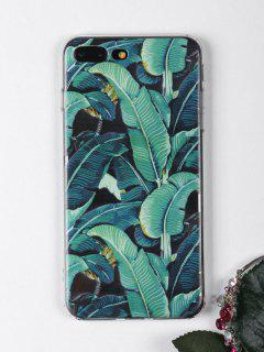 Tropical Leaves Pattern Phone Case For Iphone - Green For Iphone 7 Plus