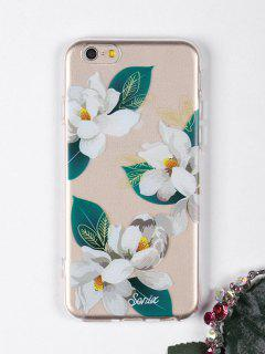 Flowers Leaf Pattern Phone Case For Iphone - White For Iphone 6 / 6s