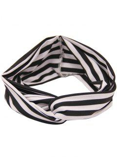Two Tone Multiuse Striped Elastic Hair Band - Stripe